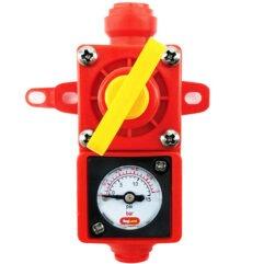 Blowtie 2 - Válvula de alivio con manómetro 0-15 psi